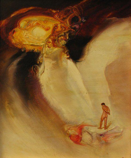 James Gleeson, Figure in Phsycoscape, 1960s, oil on board.
