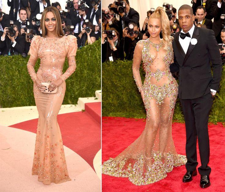 Beyoncé + Givenchy: dobradinha que se repete anualmente no tapete vermelho do tradicional gala do Metropolitan Museum, em Nova York (Foto: Getty Images)