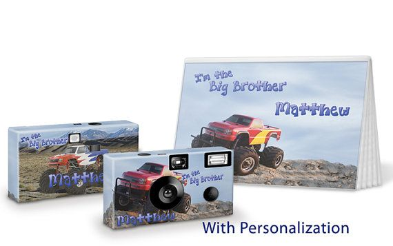 Monster Truck  I'm The Big Brother Camera by PersonalizedGifts4u