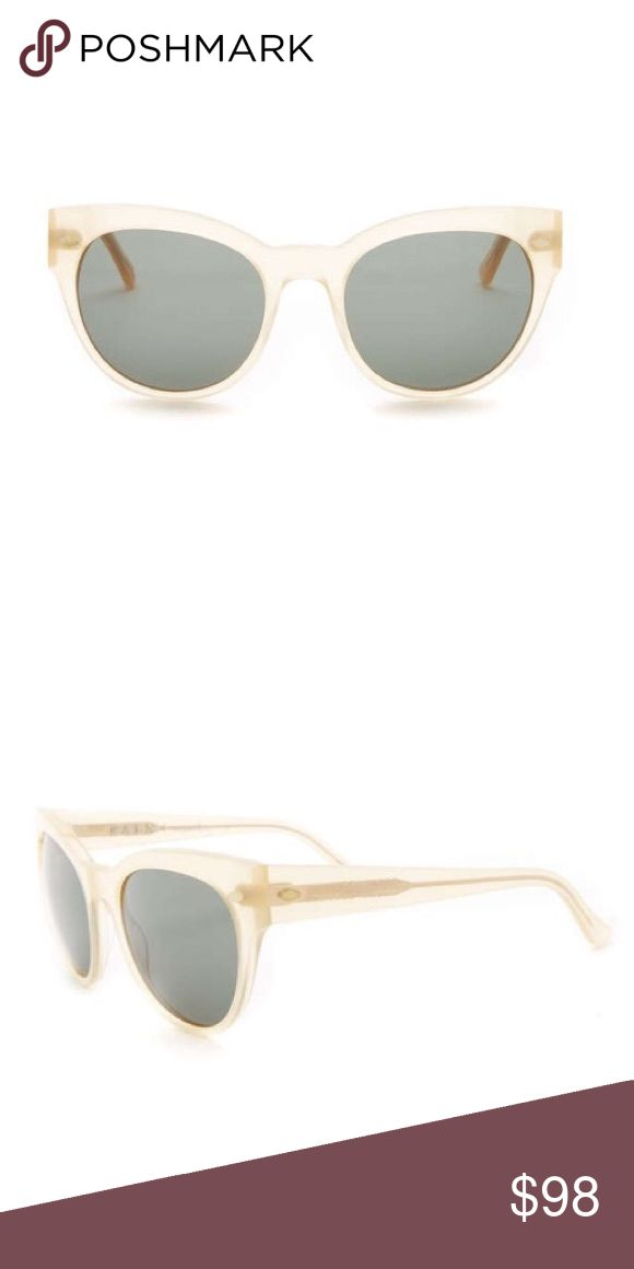 Raen Women's Cat Eye Sunglasses Raen Women's Cat Eye Sunglasses. NWT. Measurement: 51.5-14.5-135mm (eye-bridge-temple). Nude crystal frame. Lens color is grey. 100% UV protection. Includes case. Raen Accessories Sunglasses