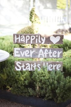 Use some old wood you have lying around to personalize signs around your venue for a nice added touch!