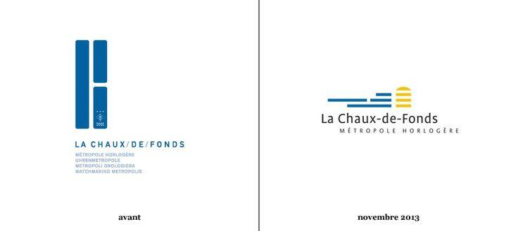 La Chaux-de-Fonds, ville suisse classée au patrimoine mondial de l'Unesco et située à 10 km de la frontière française, dévoile sa nouvelle identité visuelle née à la suite d'un concours organisé entre 32 agences de graphisme locales. Le précédent logo, plutôt énigmatique (Lire