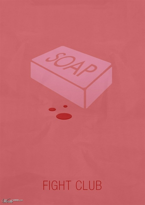 the bar of soap is a big symbol of fight club. in the book tyler finds a recipe…