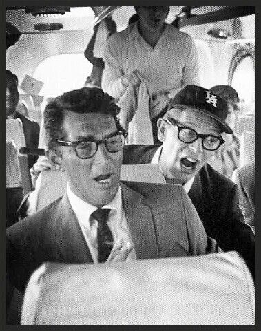 Dean Martin and Milton Berle - Now this story in the book is WILD. #FlyingwiththeRichandFamous #fromtheflightattendantwhoflewwiththem