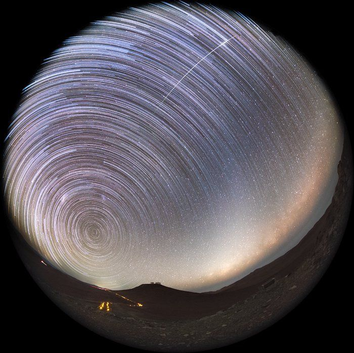 Night at Paranal Observatory, on top of the Cerro Paranal, Chile