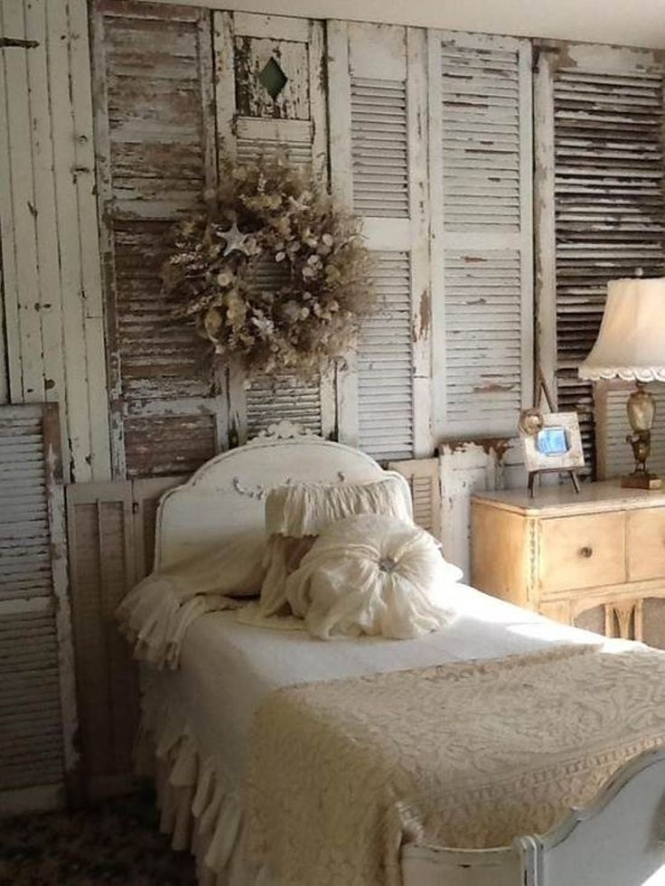 25 best ideas about shutter wall on pinterest country - Rustic wall covering ideas ...
