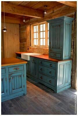 Kitchen future home pinterest kitchens cabin and house for Log cabin furniture canada