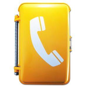 Security guard telephone, used as a gate house phone. Vandal proof telephone and made for tough conditions, integrated with security systems