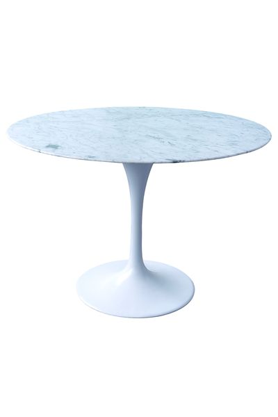 Cast alu base, marble top. Available in white with marble top. http://www.chaircrazy.co.za