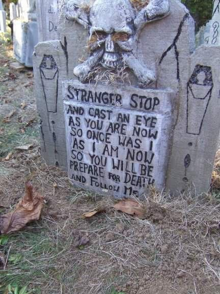 halloween tombstone by ella - Funny Halloween Tombstone Names