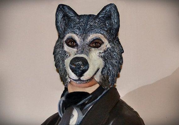 Masquerade mask paper mache Lykoswolf Papier mache by RheaMasks