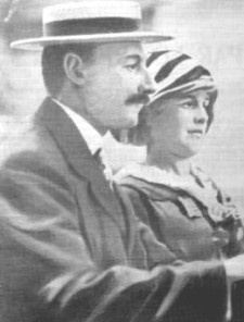 John Jacob Astor IV (Jul 13, 1864 - Apr 15, 1912) and his second wife, Madeline Talmadge Force Astor. On their return home from an extended Honeymoon abroad, the Astor's were returning home to New York to await the birth of their first child. J.J., as he was known, perished. Madeline gave birth to a son, John Jacob Astor V, in August 1912.