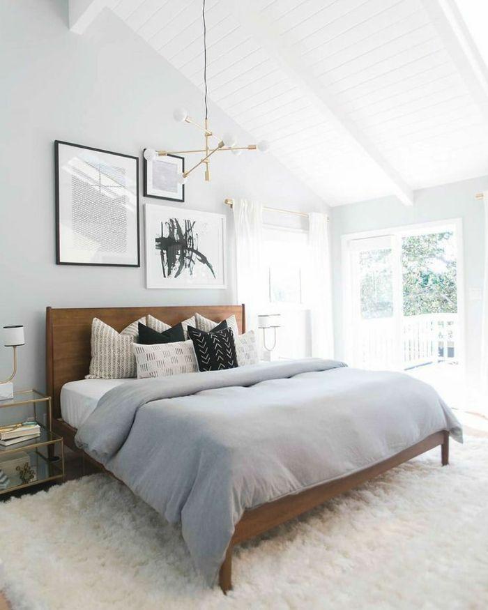 Bedroom Inspirations For The Attic A White Carpet Black Home Decor Ideas Diy Schlafzimmer Inspirationen Schlafzimmer Design Schlafzimmer Im Skandinavischen Stil