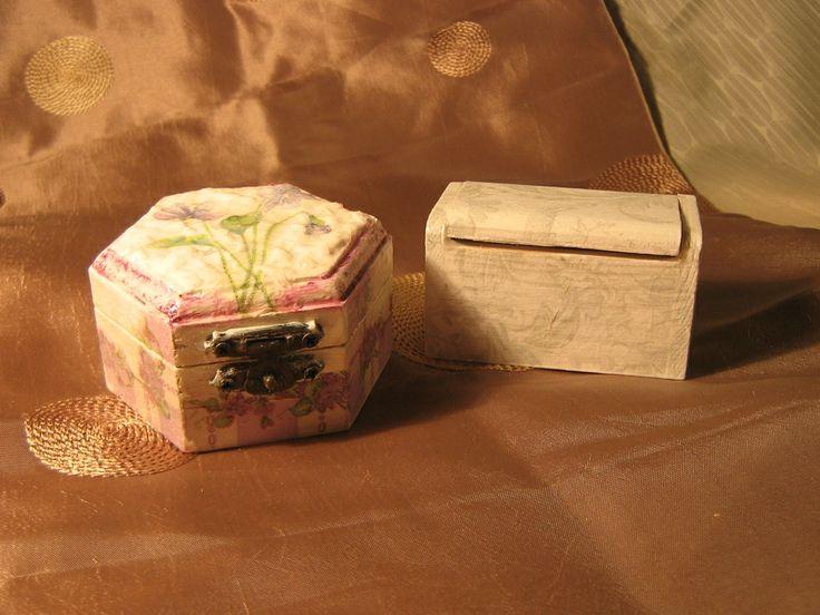 decoupage wooden boxes
