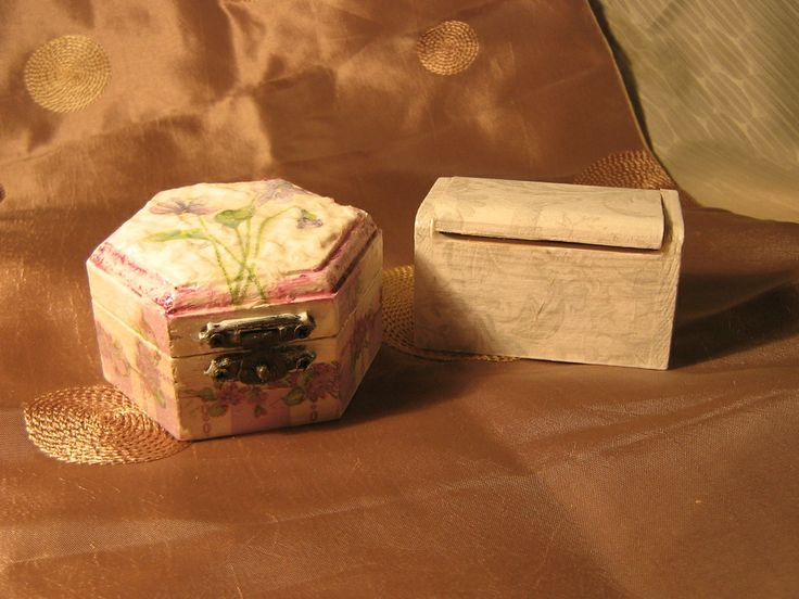decoupage wooden boxes