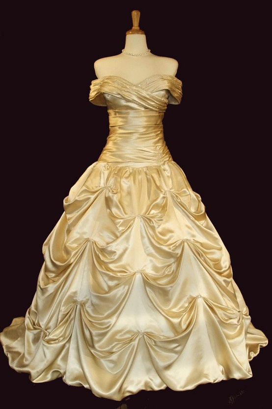 Belle wedding dress for Wedding dress like belle from beauty and the beast