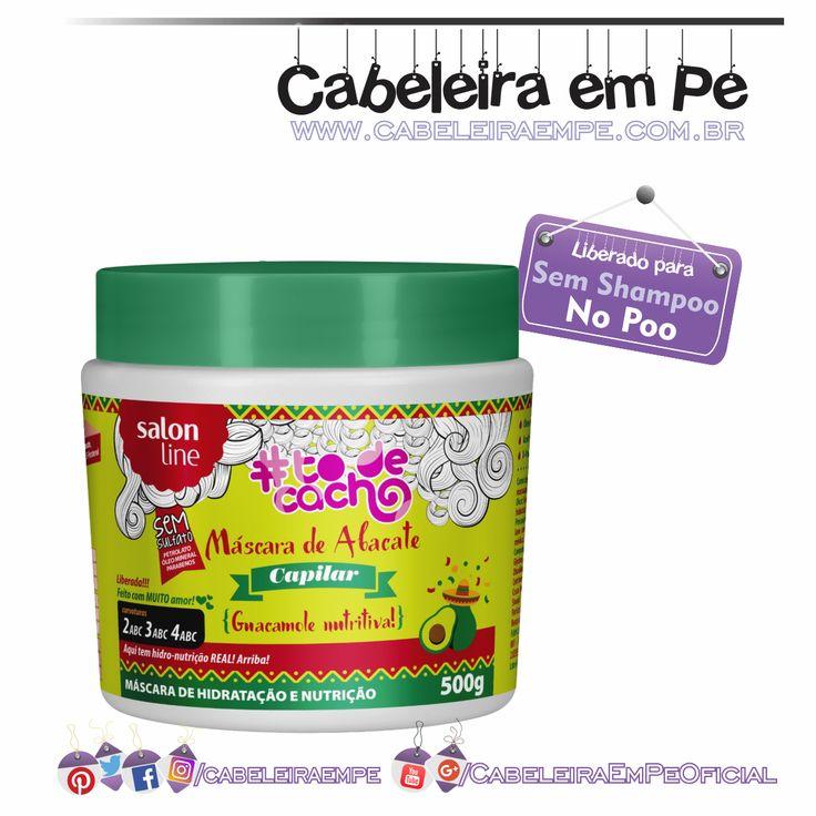 Máscara de Abacate Tô de Cacho Guacamole Nutritiva - Salon Line (Liberada para No Poo)