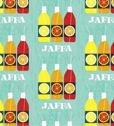 Adorable! This print is perfect for a Finnish home. [Jaffa is a legendary orangeade in Finland.]