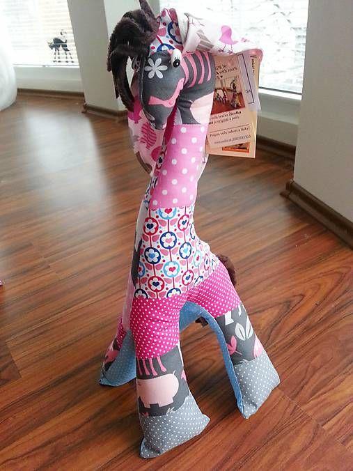 HEDERVIGA / Žirafka ušatá vysoká 50cm ... zvieratká