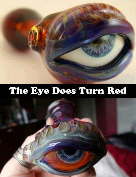 Stoned red eye  glass bowl