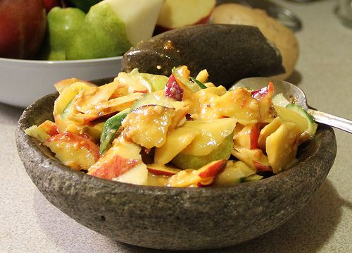 INDONESIAN FRUIT SALAD ( RUJAK BUAH). The recipe of this food is available at http://diastu.wordpress.com/2013/07/16/indonesian-fruit-salad-rujak-buah/