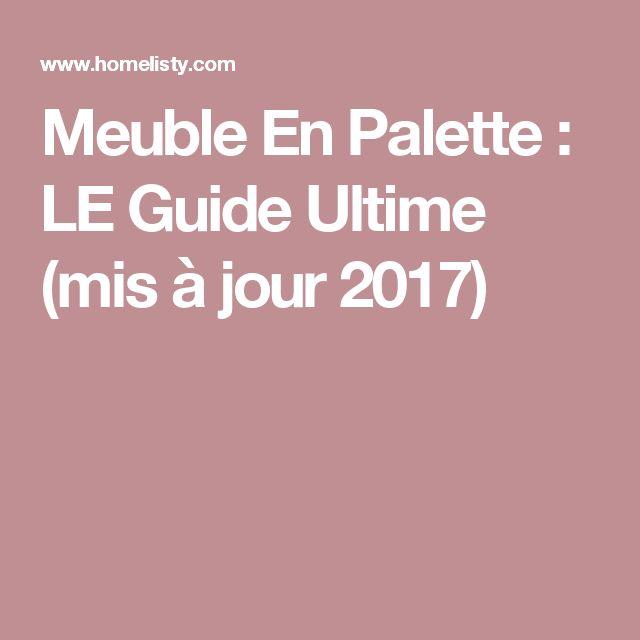 Meuble En Palette : LE Guide Ultime (mis à jour 2017)