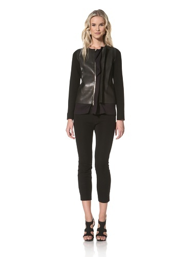 62% OFF Marni Women's Leather Bodice Jacket (Midnight/Black) (a favourite repin of VIP Fashion Australia www.vipfashionaustralia.com - Specialising in unique fashion, exclusive fashion, online shopping sites for clothes, online shopping of clothes, international clothing store, international clothes shop, cute dresses for cheap, trendy clothing stores, luxury purses )