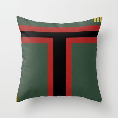 Star Wars - Boba Fett Throw Pillow by Juan Martos - $20.00