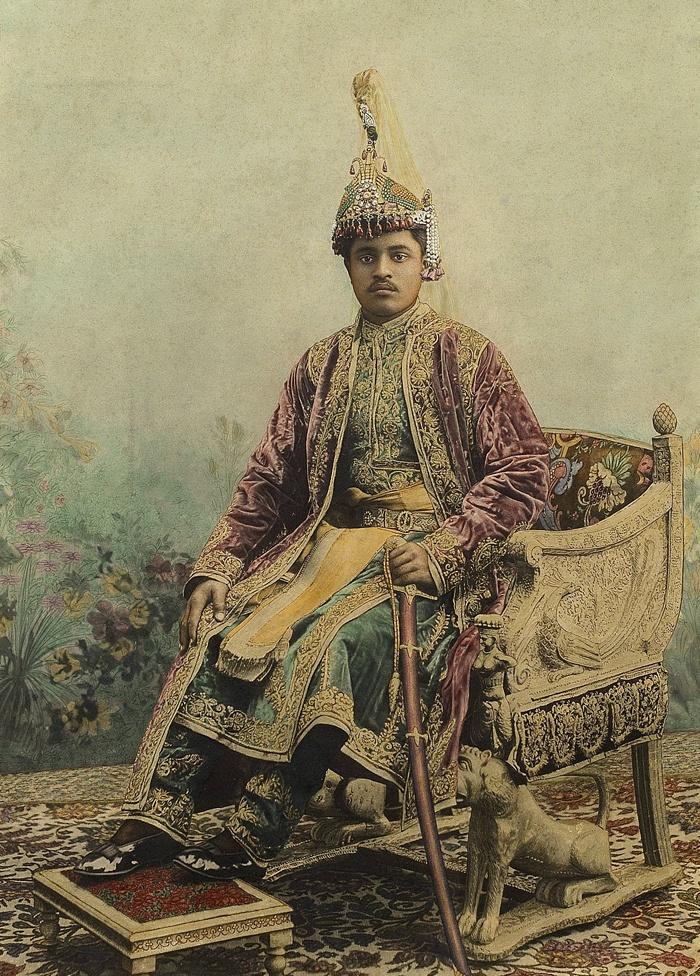 Maharaja Sir Bhagwati Prasad Singh of Balrampur from Johnston and Hoffman c.1900