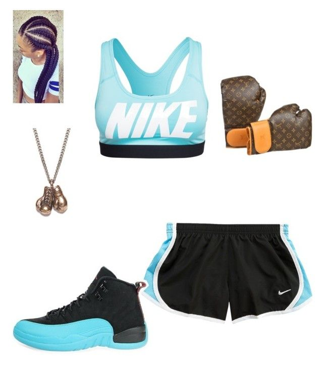 """Boxing match tonight-carter"" by mindless-loyalty ❤ liked on Polyvore featuring NIKE, We Are All Smith and Louis Vuitton"