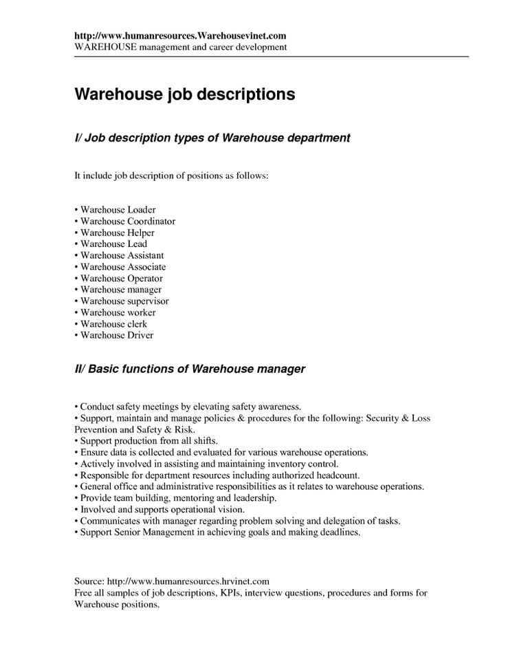 Round Table Pizza Crew Job Description    argharts - warehouse associate job description