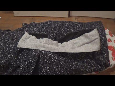 How to sew waist band with elastic/Πως ράβω ζωνάκι με λάστιχο - YouTube
