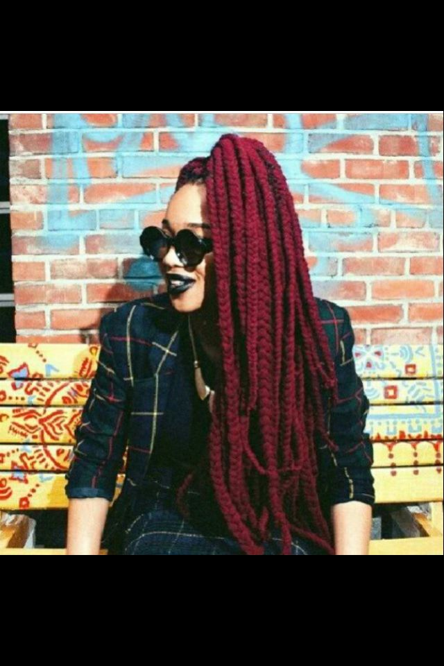 Red yarn braids