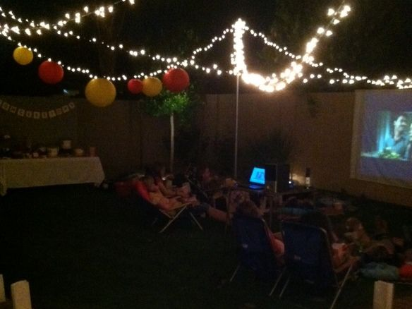Backyard movie party, will happen one year! For my birthday or J's :)