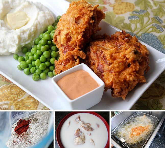 Extra-Crispy Spicy Fried Chicken with �Delta� Sauce