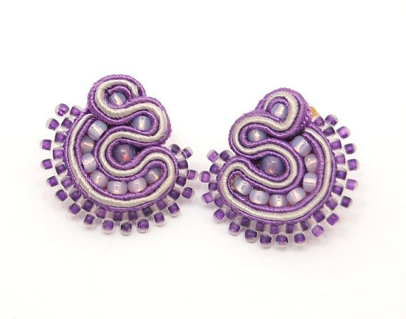 Beautiful soutache earrings  professional handmade  by martazare, $33.00