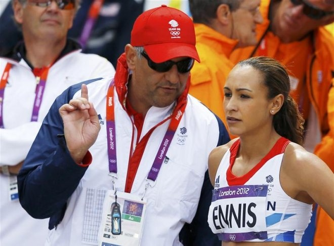 Olympic heptathlete gold medallist Jessica Ennis will stay with her coach Toni Minichiello despite the fact he lost his job with Great Britain
