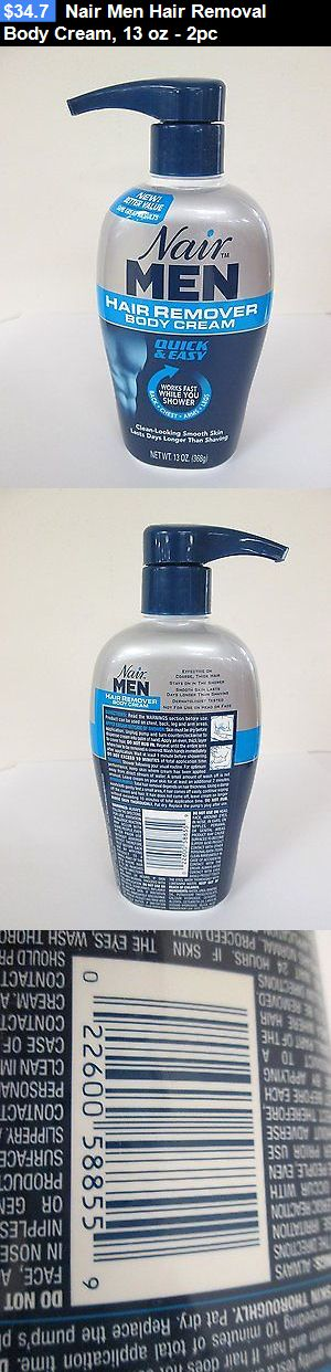 Hair Removal Creams and Sprays: Nair Men Hair Removal Body Cream, 13 Oz - 2Pc BUY IT NOW ONLY: $34.7