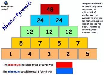 51 Math Games for Kids : Number Pyramid