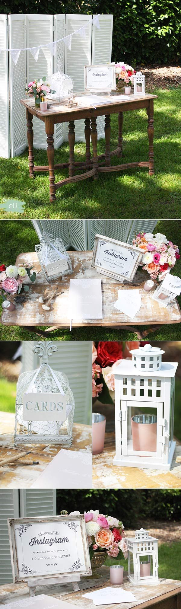 Elegant Lace Wedding Welcome Table