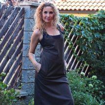 Šatová sukně - hnědo/černá