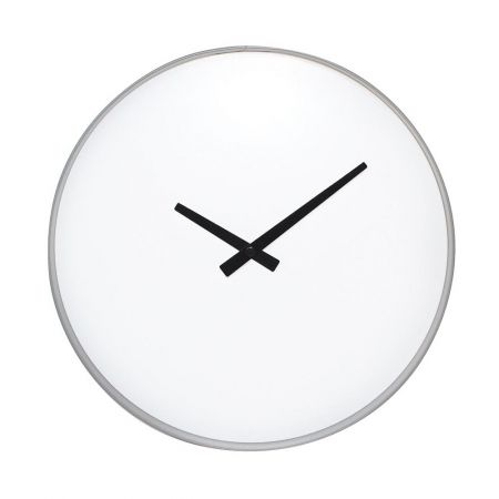 Minimalistic grey and white wall clock - Image Grey & white clock - Hard To Find Monochrome Style