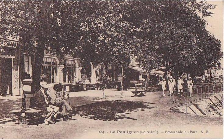 B Le Pouliguen En Loire Atlantique Promenade Du Port Cpa Animee A