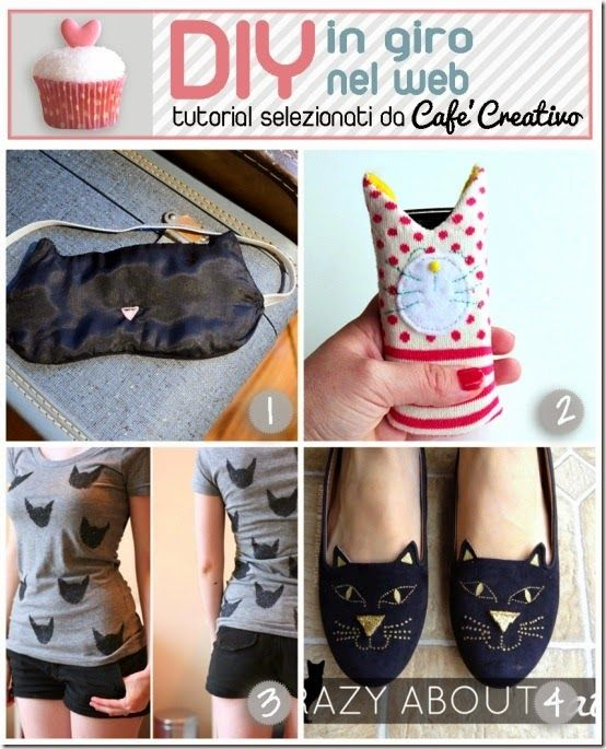 Tutorial ♥ Regali fai da te per le amanti dei Gatti; Love Cats, craft  tutorial