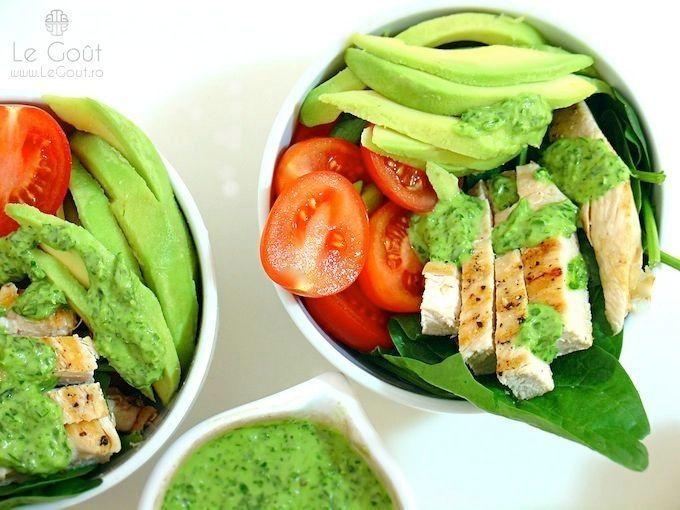 Shaworma de dieta (cu sos de patrunjel) - Diet shaworma (with parsley sauce)