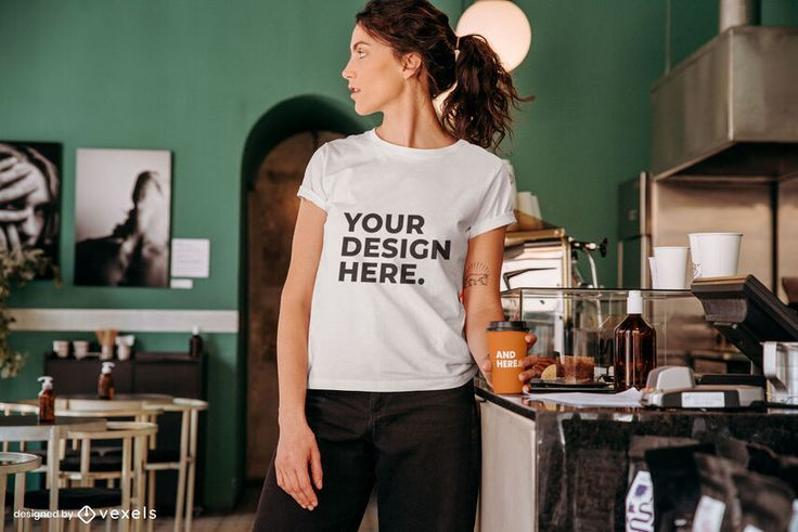 Coffee Model T Shirt Mockup Ad Model Shirt Mockup Coffee In 2021 Shirt Mockup Clothing Mockup Tshirt Mockup