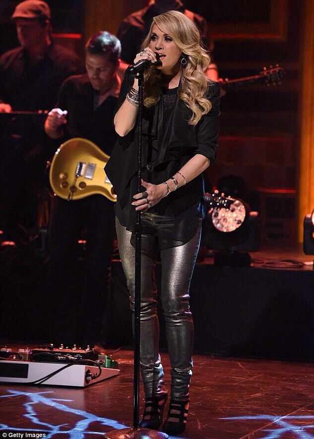 Carrie performing on Jimmy Fallon