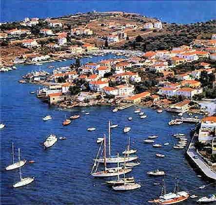 Spetses, Greece - another one of the greek islands where no cars are allowed but the local bus, bicycles, taxi boats, donkeys and horse carriages