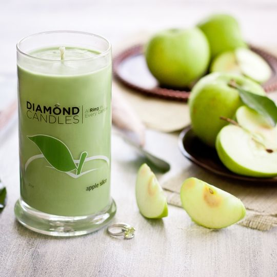 """GIVEAWAY for US & Canada residents! As thanks to my Pinterest fans, every day this week I will be giving away an Apple Slice candle from Diamond Candles on Sneekpeeq! TO ENTER: Click on this photo, sign in to Sneakpeeq & """"peeq"""" once to enter. I will announce it in a comment on this pin along with instructions on how the winner can claim their prize. Giveaway ends tonight, October 1st, at midnight PST time! Good luck!"""