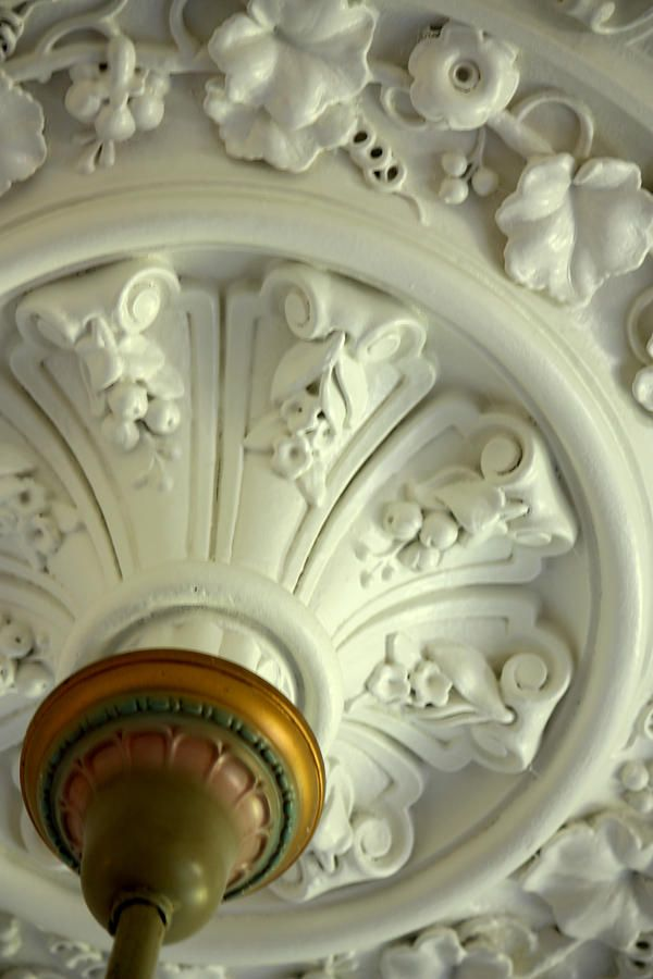 ceiling medallion art | Victorian Ceiling Medallion Photograph
